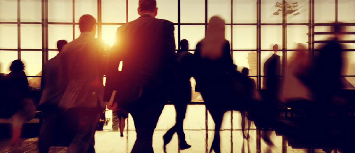 Travel Business People Commuter Airport Corporate Concept