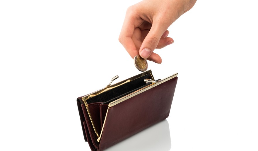 wallet and coin