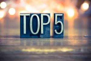 Top 5 SFAI Spain. Año 2015