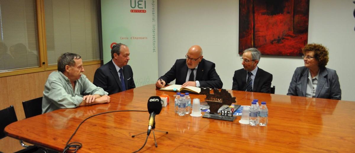 Joan Díaz recibió la visita de Jordi Baiget, Consejero de Industria de la Generalitat de Catalunya