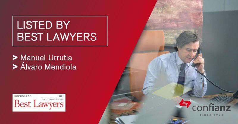 Best Lawyers distingue un año más a dos socios de la firma Confianz